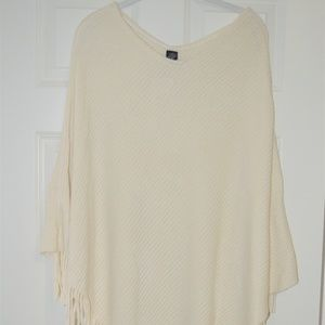 NWT Cream Poncho Sweater
